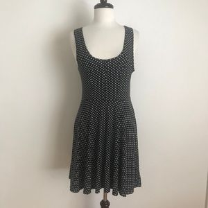 Free People Navy Blue Polka Dot Tank Dress Size L